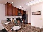 Granite Countertops in Full Kitchen and Bar Seating