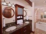 Master Bathroom with Granite Countertops