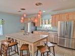 you will love the amount of room with this open design and entertaining a large group