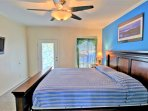 2nd floor bedroom with king size memory foam, cable HDTV, balcony