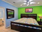 1st floor king size memory foam bedroom with en suite bathroom and cable tv