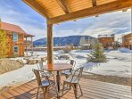 Boasting southern sun exposure and mountain views, this covered deck will easily become your favorite spot on the...