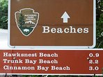 When you see this sign, you are on your way to seeing some of the most beautiful beaches in the world!