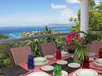 Both condo's have covered decks, gas grills and dining with a view