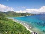 A short drive away is Reef Bay Beach
