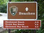 When you see this sign, get ready to see some of the most beautiful beaches in the world