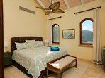 The penthouse bedroom at Bougainvillea Villa
