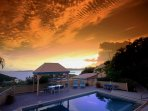 You will find the pool deck a relaxing spot to enjoy the beautiful sunsets