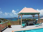 Sit out and enjoy the view under the covered gazebo