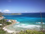 One of your best views looks down the southern coast of St. John