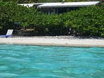 A snorkelers view of The Beach Cottage