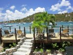 Gull Cottage has the only seawall deck on St john, but our guests wish that every villa had one