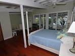 The master bedroom has a view of the Caribbean