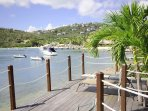A short distance to the east, at the head of the harbor lies the beach and restaurants of the Westin Resort