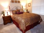 Pillow top queen bed in 3rd bedroom