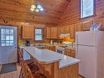 The fully equipped kitchen has everything you'll need to channel your inner Iron Chef.