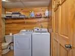 Wash your dirty duds in the in-unit laundry machines.