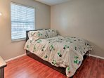Sleep soundly in the second bedroom with a full-over-twin trundle bed.
