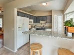 Enjoy the ease of creating homemade meals in the fully equipped kitchen.