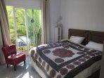 Double Bedroom & balcony, great garden views