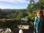 One guest chose to make her own record of the view from the terrace . . . .