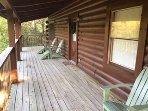 backside deck at cabin