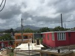 Even on cloudy days, the view to El Yunque rain forest from the balcony is impressive.