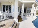 Pool, porches, patios, beach, - where to spend the day is up to you!