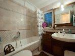 large bathroom. always hot water