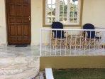 Entrance veranda with seating