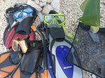 We have good quality snorkel gear for rent!