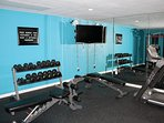 It is your vacation but you'd like to stay in shape. Not a problem, the gym is there!