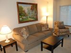 Second living room has a queen sofa sleeper
