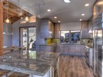 Immaculate design with stainless steel appliances throughout