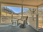 Enjoy the cool mountain air as you relax on the cottage's covered porch.