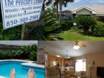 The Pelican is a beautiful 4 BR home on a cul-de-sac in a quiet gated neighborhood