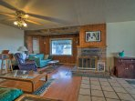 The living room has a king sleeper sofa and a queen sleeper sofa.
