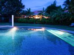 Two steps from the house is the main pool - The house has four private sunbeds..