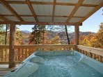 Covered Hot Tub with View