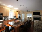 Large Gorgeous Kitchen with Convection Stove Top and Granite Eat In Bar