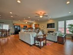 The open floor plan gives this home a spacious feel.