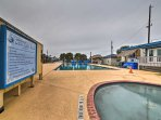 Prefer chlorine to saltwater? Take a dip in the community pool.