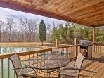 Experience the great outdoors when you stay at 'Whitetail Cottage,' a vacation rental cabin in Derby, Indiana.