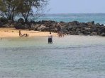 Poipu beach also has a 'baby beach'  with protected waters for children