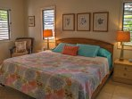 Botanical room, first floor, king bed, private patio