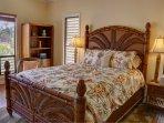 Master bedroom suite on main upper floor, queen bed