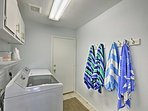 You'll find all of the comforts of home at this property including in-unit laundry machines.