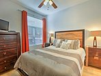 Sleep peacefully in the second bedroom furnished with a queen bed.