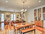 The open floor plan makes it easy to admire the dining space with combination bench seating.