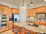 Sip your morning coffee at the spacious breakfast bar!